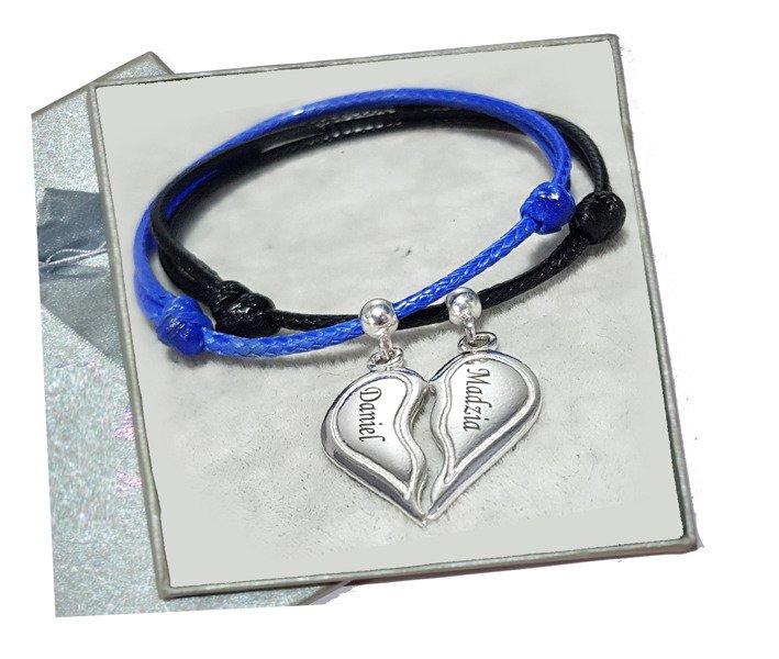 cc7168fad2 BR1016 BRANSOLETKI Z GRAWEREM dla pary łamane serce na pół Kliknij