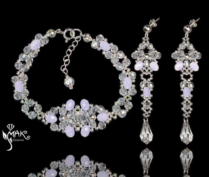 e84d85aa1dd3 KPL628 biżuteria ślubna KOMPLET Swarovski El róż Kliknij