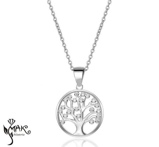 ca45a0ed7b9d Nk917 naszyjnik srebrny rodowany drzewko szczęścia Kliknij
